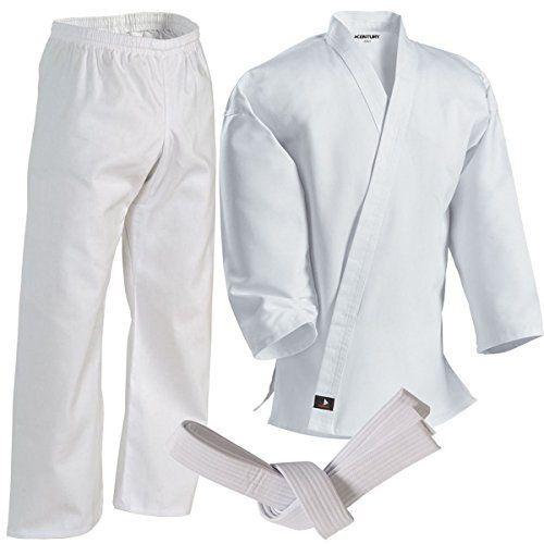 Century Martial Arts Middleweight Student Uniform with Elastic Pant - White, 4 - Adult Medium - http://www.exercisejoy.com/century-martial-arts-middleweight-student-uniform-with-elastic-pant-white-4-adult-medium/martial-arts/