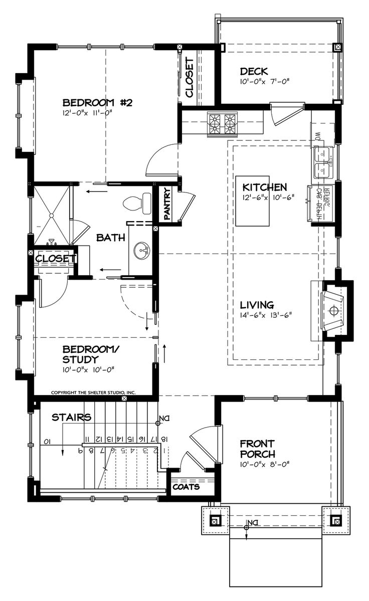 427 best our new house images on pinterest small houses home craftsman style house plan 2 beds 1 baths 980 sq ft plan 895