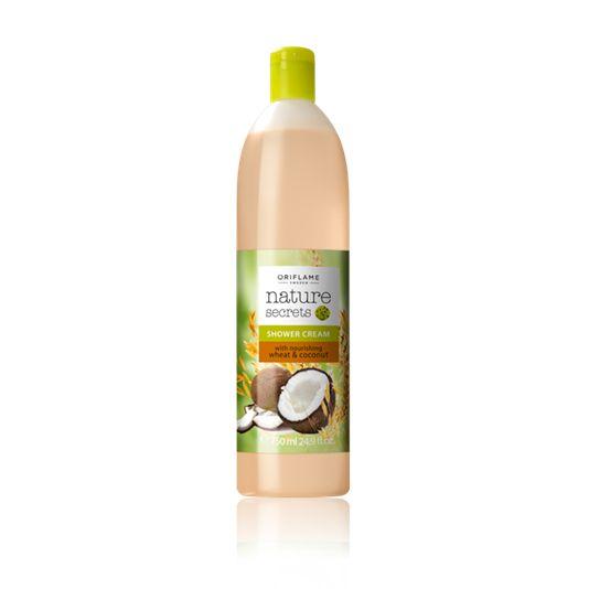 Crema de Ducha Nutritiva con Trigo y Coco Nature Secrets Tamaño Gigante (26455) Suave crema de ducha con proteína de Trigo hidratante y aceite de Coco que hidrata la piel en profundidad.