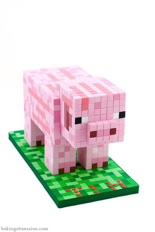 The MineCraft creator's son's birthday cake. It took his Mom 24 hours of non-stop work!