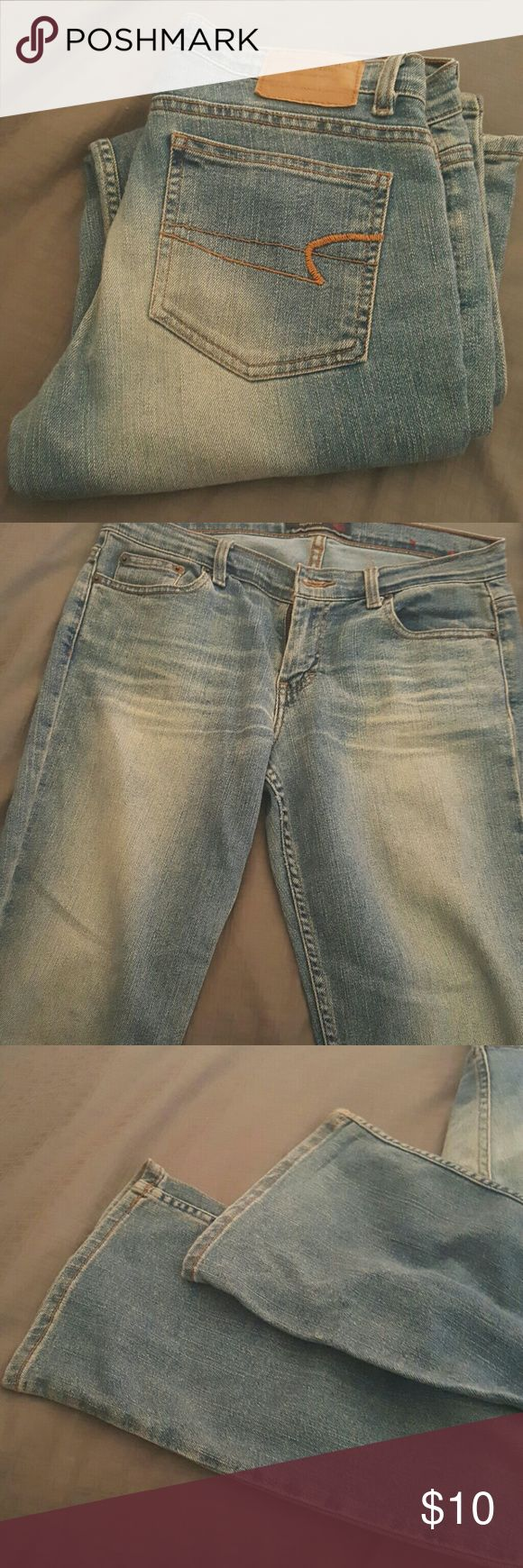 American Eagle Jeans American Eagle Jeans in great shape slightly flared fitted in thigh area American Eagle Outfitters Jeans Flare & Wide Leg