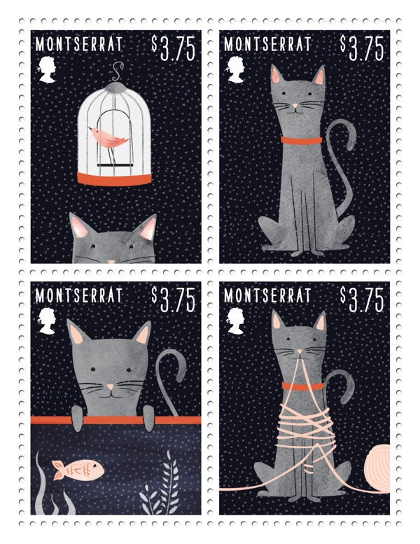 i would lovet o send all my letters with these stamps! Cat Stamps | Dana Goldberg