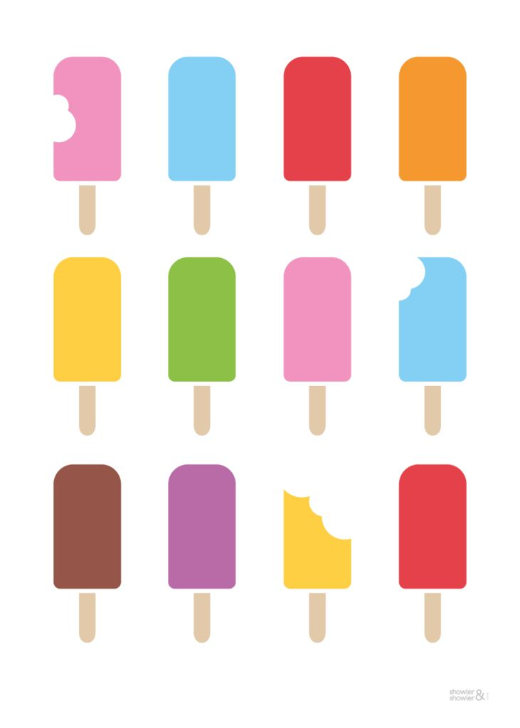 Ice Lolly Print