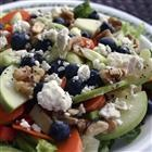 Fruit and veggie salad combined with a sweet/sour dressing: Recipe Salad, Poppyseed Dresses, Dresses Allrecipes Com, Lemon Poppyseed, Rainbows Salad, Healthy Salad, Dresses Recipe, Lemon Poppys Dresses, Rainbow Salad