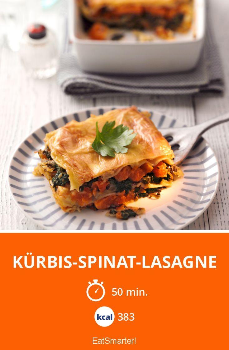 Kürbis-Spinat-Lasagne - smarter - Kalorien: 383 kcal - Zeit: 50 Min. | eatsmarter.de