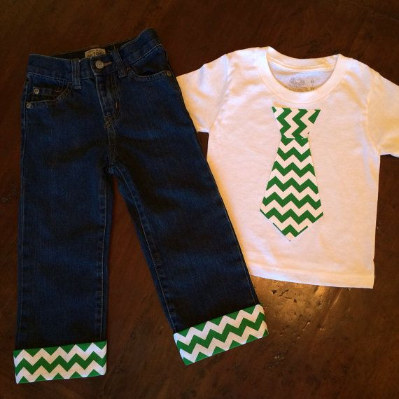 St Patricks boy outfit, St. Patricks Day clothing, First Birthday Boy Outfit, St. Patrick tie tshirt, toddler pant shirt, dressy baby outfit on Etsy, $38.95