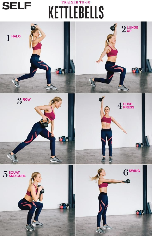 7 Beginner-Friendly Kettlebell Moves. workout / fitness / exercise ideas