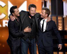 Luke Bryan, Blake Shelton and Dierks Bentley - 51st Academy of Country Music Awards - Show - Zimbio