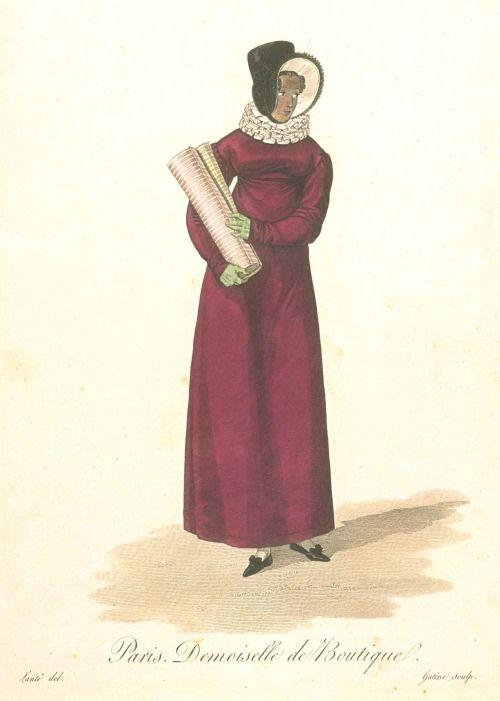 """""""Paris. Shopgirl.""""Les Ouvrieres de Paris, 1816-1818"""