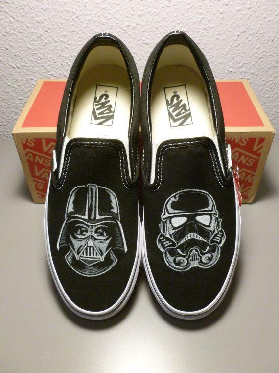 dee1dc8d11fee9 Custom Vans Star Wars Darth Vader Stormtrooper by GraphicLust