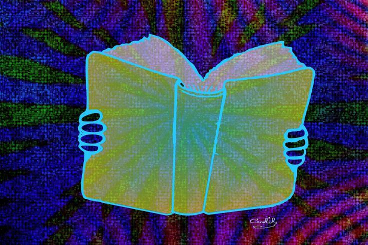 Como cualquier otra actividad de los seres humanos, la lectura es una conducta inteligente. Ilustración de Carolil Círculo Aleph