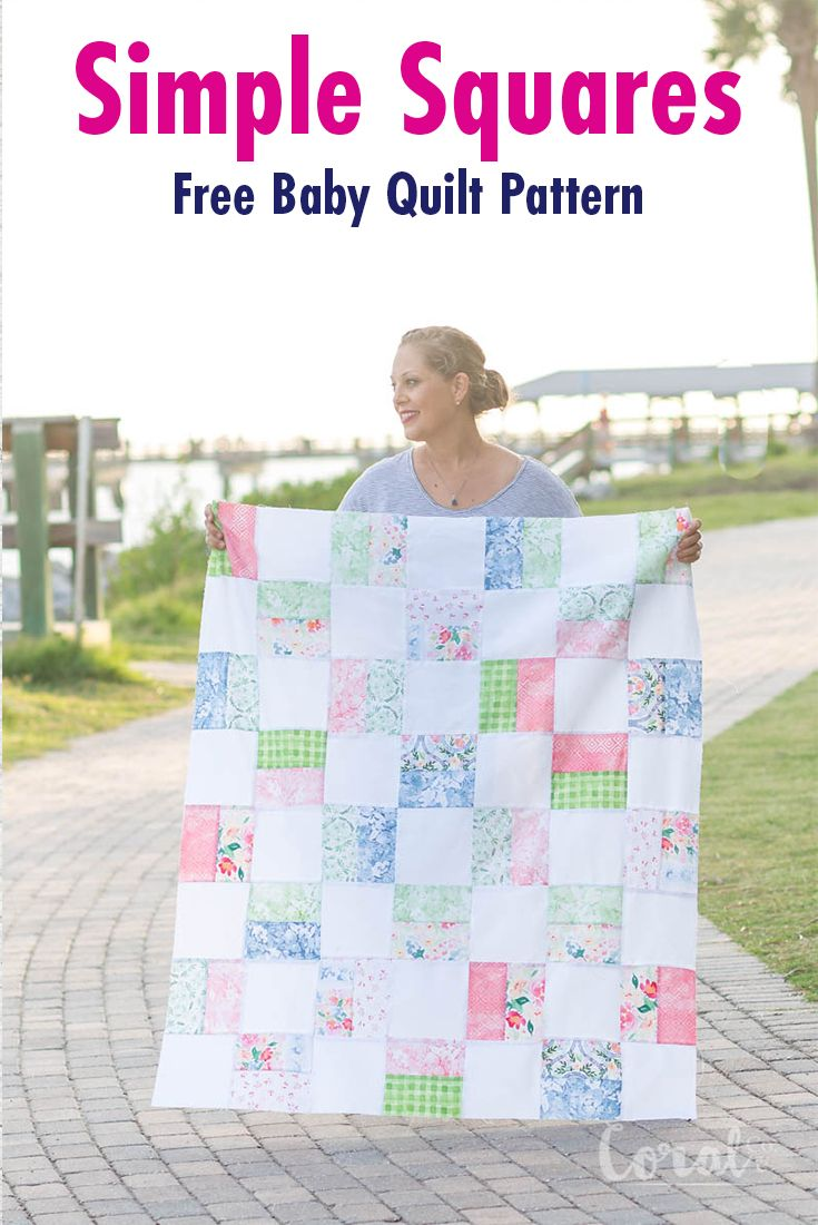 Simple Squares Quilt Pattern Baby Quilt Tutorials Girl Quilts Patterns Baby Girl Quilts