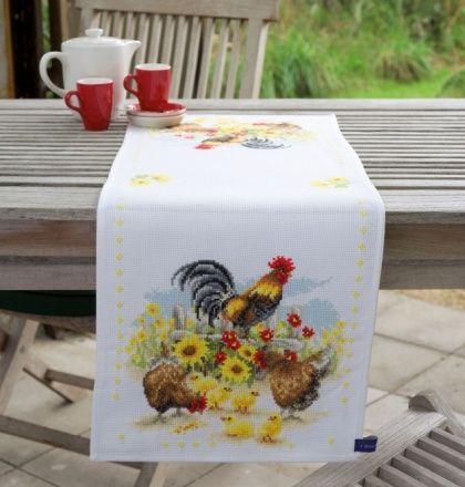 Дорожка Куриное семейство pn-0148360 - Скатерти - Вышивальный РАЙ