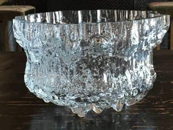 Rare IITTALA Miracus 3433 Massive Clear Ice by ClutterfingersRetro