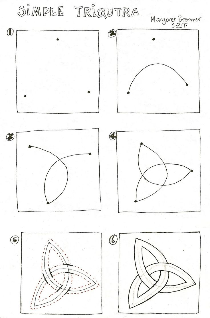 Enthusiastic Artist: How to draw triquetras