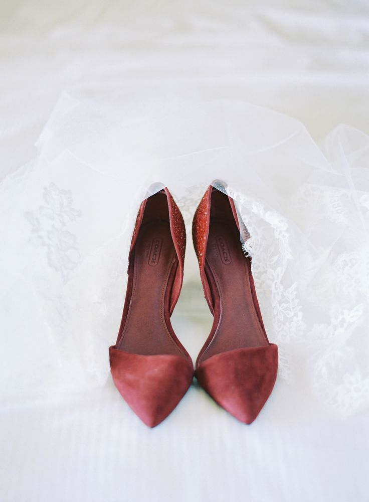 Photography : The Great Romance Photo | Wedding Shoes : Coach Read More on SMP: http://www.stylemepretty.com/2016/11/16/berry-wedding-color-ideas/