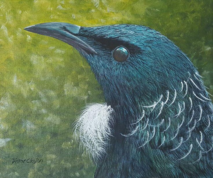 Dinanzart #tui #art #native birds nz