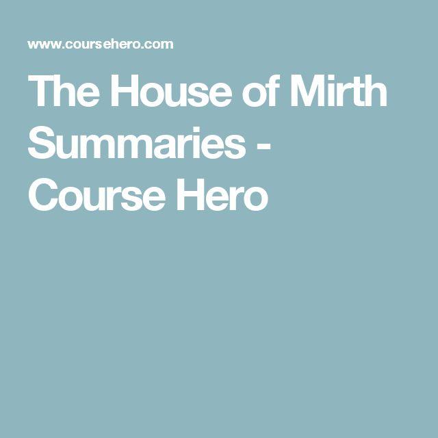 The House Of Mirth Summary