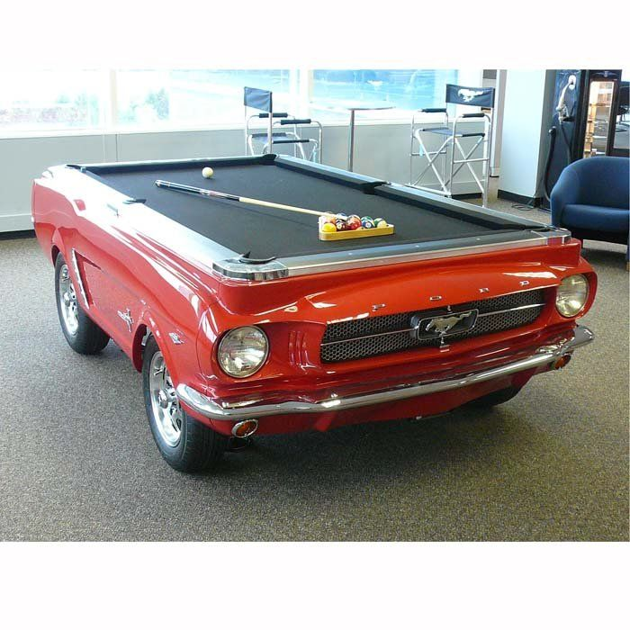 1965 Mustang Pool Table - this is evil! Combining 2 of the most desired things a man wants