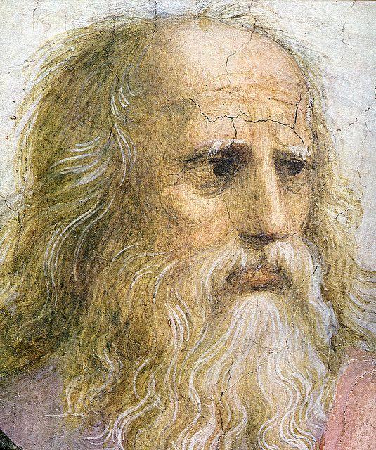 Raffaello-Scuola di Atene(dettaglio Platone ),Stanza della Segnatura,Musei Vaticani