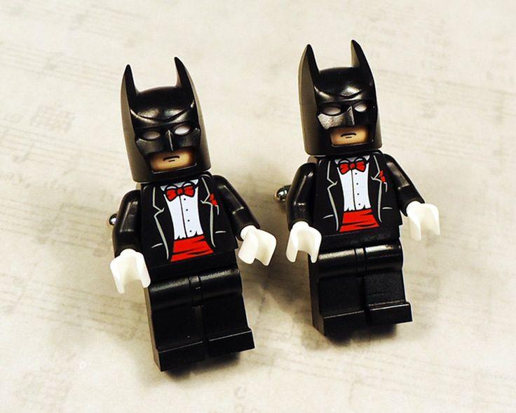 Batman Wedding Gift: Full Body Batman Black With Red Wedding Tuxedo On Silver