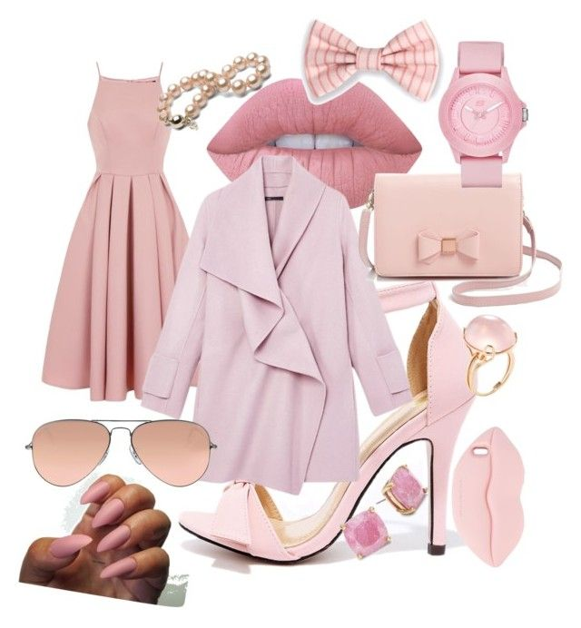 """""""All pink everything ♡"""" by boipelo-johny on Polyvore featuring Chi Chi, Chase & Chloe, Lime Crime, Vince, Ray-Ban, Ted Baker, Skechers, Goshwara, Kate Spade and STELLA McCARTNEY"""
