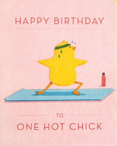 Add your own birthday message to this One Hot Chick handmade birthday card. Th