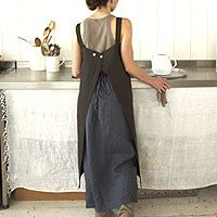 How do I make this apron thingy she is wearing?  It wouldnt pull at my neck and it would keep me covered!
