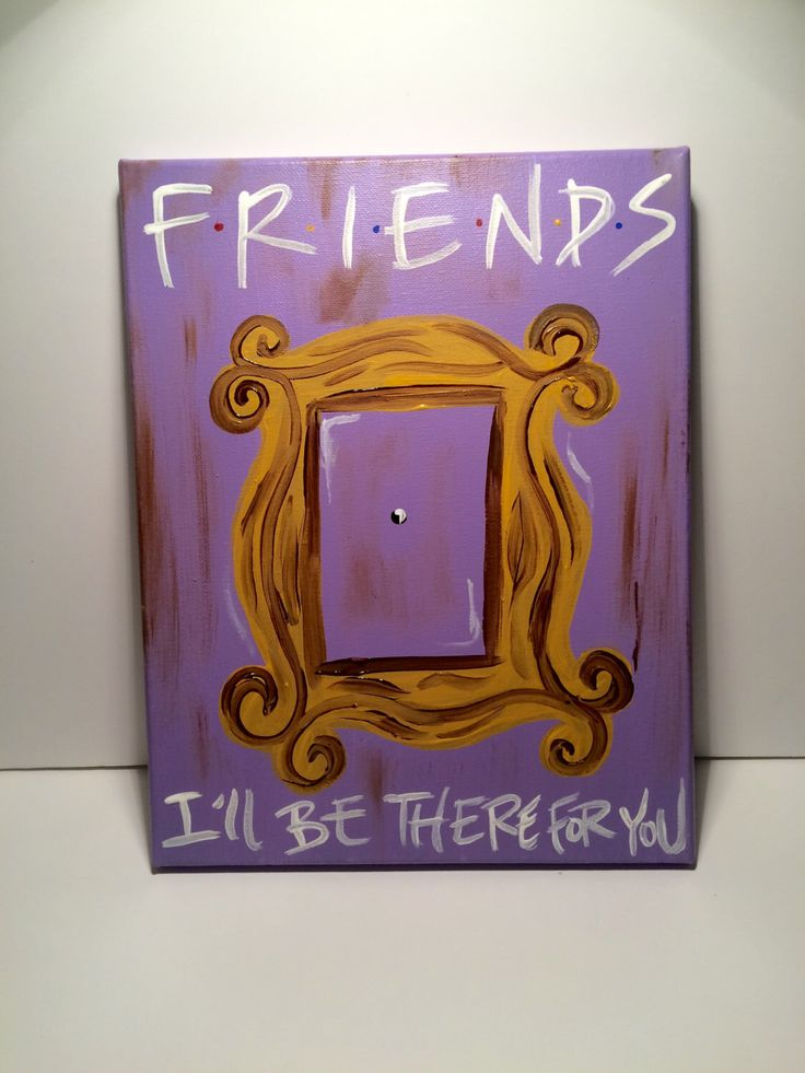 A personal favorite from my Etsy shop https://www.etsy.com/listing/253105893/f-r-i-e-n-d-s-quote-friends-tv-show