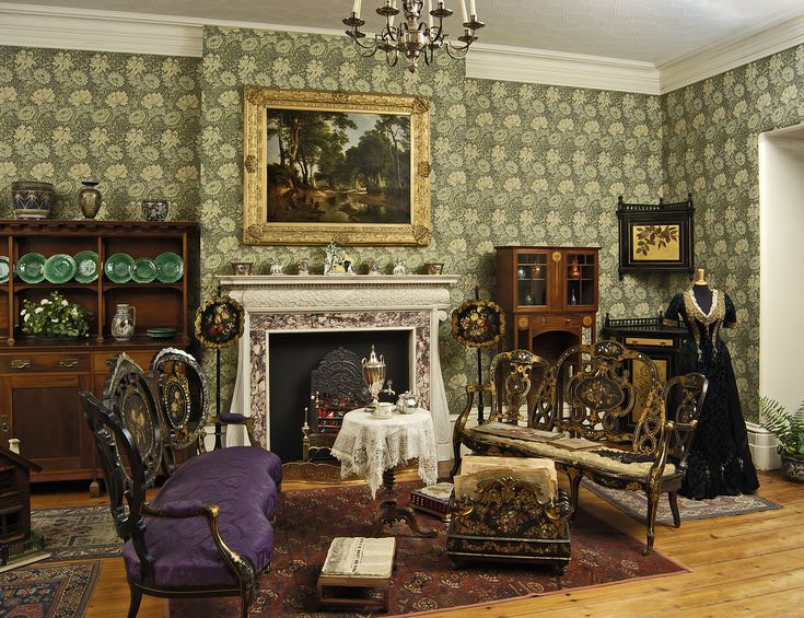 1880s drawing room style era victorian pinterest - What is a victorian house ...