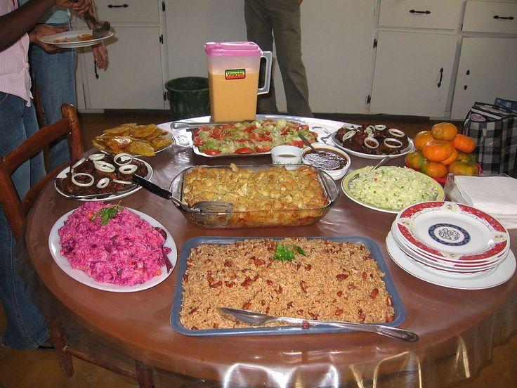 A table set with Haitian cuisine ◆Haiti - Wikipedia http://en.wikipedia.org/wiki/Haiti #Haiti