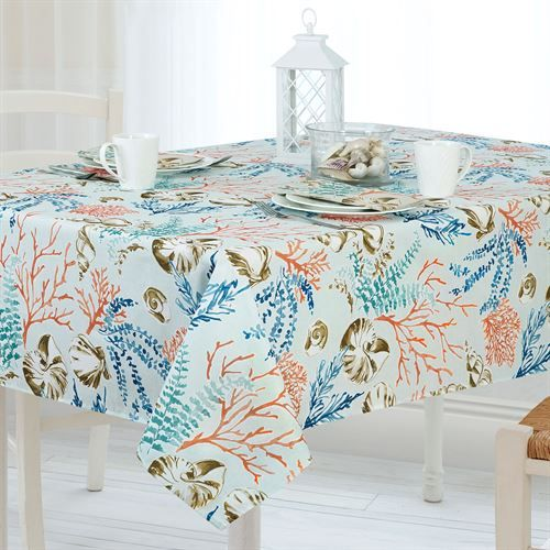 Coastal Paradise Stain And Water Resistant Indoor Outdoor Table
