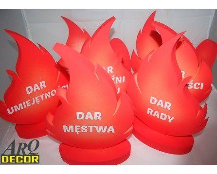 Płomienie - Zestaw Dekoracji Na Uroczystość Bierzmowania ( NA ZAMÓWIENIE) - ARQ - DECOR | Pracowania Dekoracji ARQ DECOR
