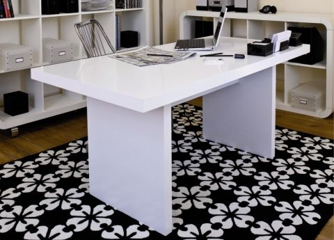 modern white desk home office