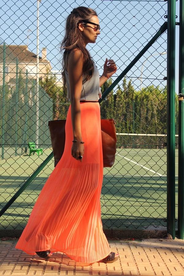 CoohuCo.: LONG NEON DRESS #MANGO