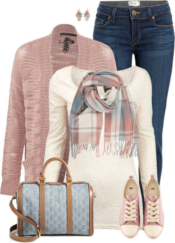 cute pink sneaker spring fall polyvore outfit bmodish