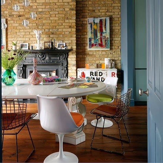 Industrial Dining room for this Edwardian house, London.