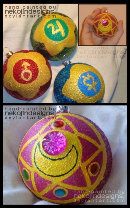 sailor moon ornaments- i know what i'm going to do for christmas