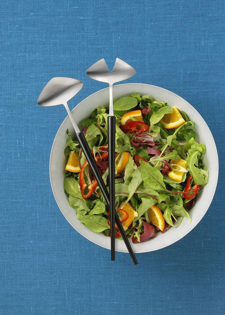 Salatbesteck im 50er Jahre Stil aus Schweden von Gense / Ein cooler Retrolook für den Tisch.