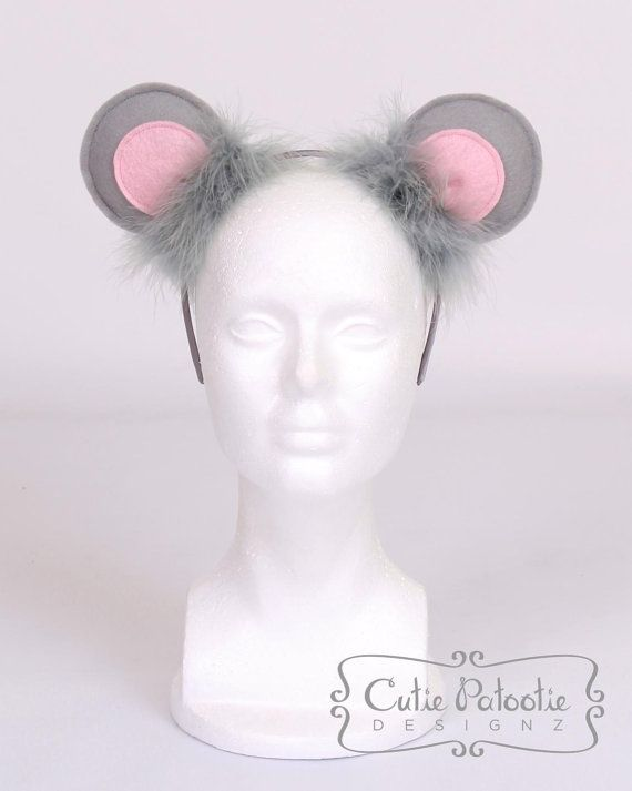Mischievous Mouse -  Mouse Ears Costume Headband by Cutiepatootiedesignz