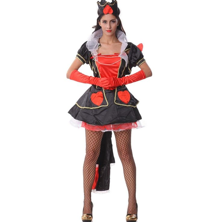 >> Click to Buy << Female Halloween Costumes Red Heart of Queen Luxury Cosplay Costumes Alice's Adventures in Wonderland Party Fancy Dress H156126 #Affiliate