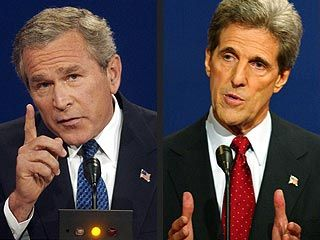 Bush, Kerry Square Off over Iraq War - 2004 Presidential Elections ...