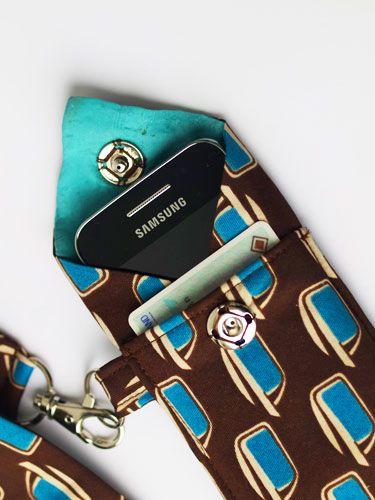 Smartphone Tasche - noch eine Verwendung für alte Krawatten