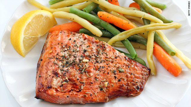 Eating baked, broiled fish protects the heart.
