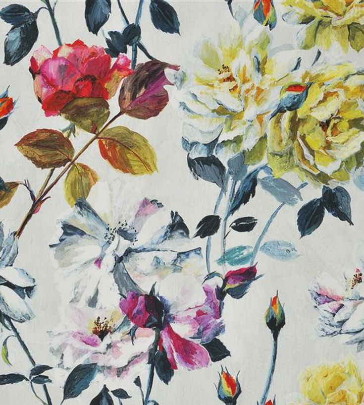 Interior Design Trend, Painterly Florals | Couture Rose Fabric by Designers Guild | Jane Clayton
