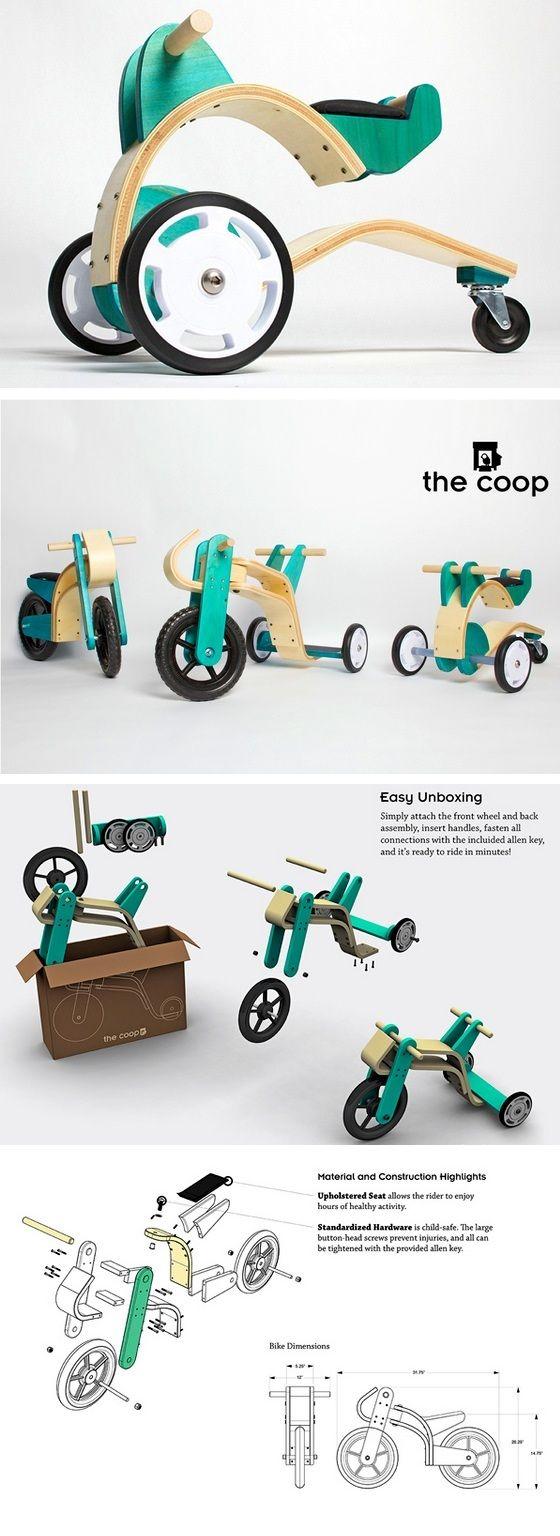 BRINQUEDOS ECOLÓGICOS A Cachaça da Happy Hour Olha só o design desses modelos de velocípedes e bicicleta feitos com madeira sustentável reciclada e toda tratada com pigmentos vegetais naturais. biodegradáveis de madeira. Em contrapartida, o cliente recebe o crédito de um bom desconto em futuras compras de novos triciclos inteiramente artesanais Coop. http://www.materiaincognita.com.br/velocipedes-e-bicicletas-para-criancas-com-madeira-reciclada/#.VD22hvldXpV