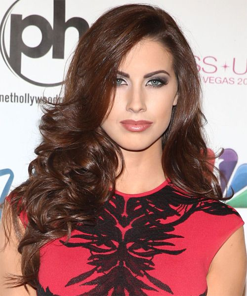 Katherine Webb Long Wavy Hairstyle
