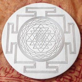 Shri yantra Orgonite Plate