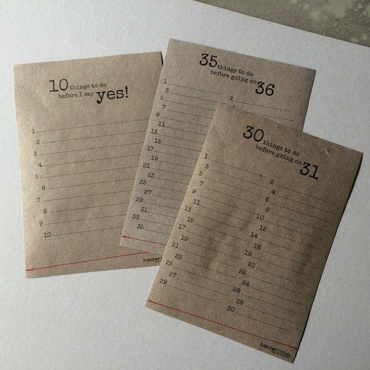 good intentions | Vul voor elk levensjaar een idee, een visie of een doel in. Misschien krijgt jouw jaar op deze manier nòg meer betekenis. De handwritten-bucketlist!