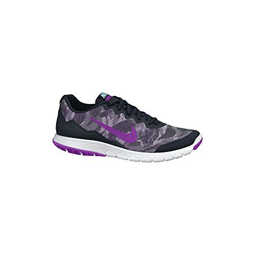 Womens Nike Flex Experience Run 4 Premium Running Shoe BlackWhiteVivid  Purple Size 11 M US *